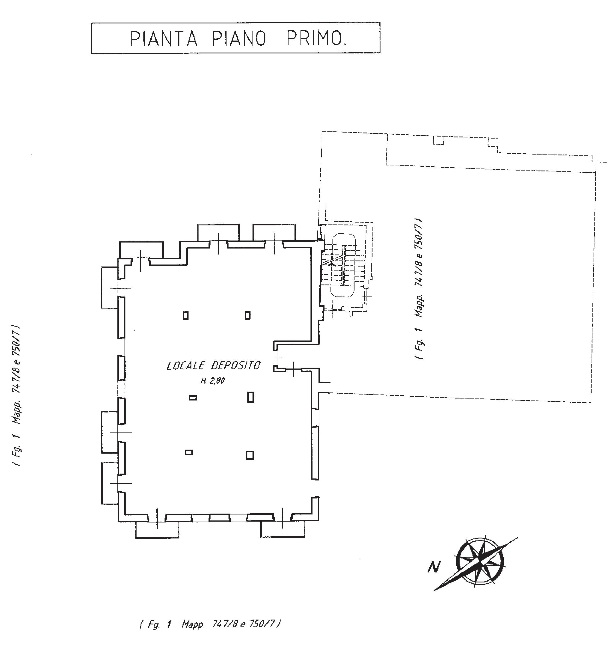piano primo catastale - Hotel