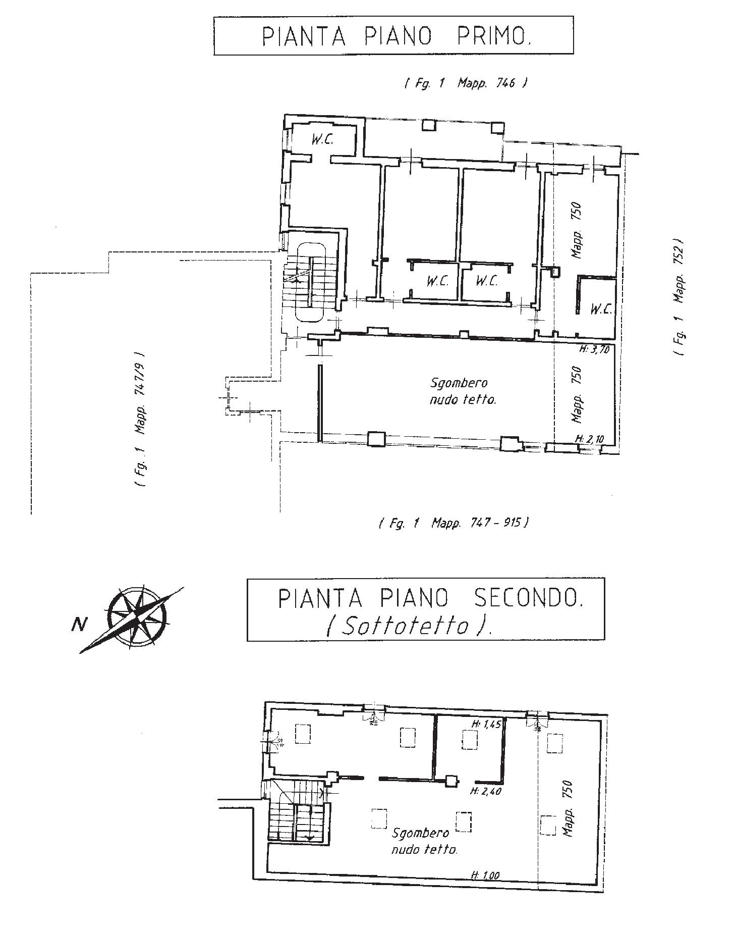piano primo-secondo catastale - Hotel