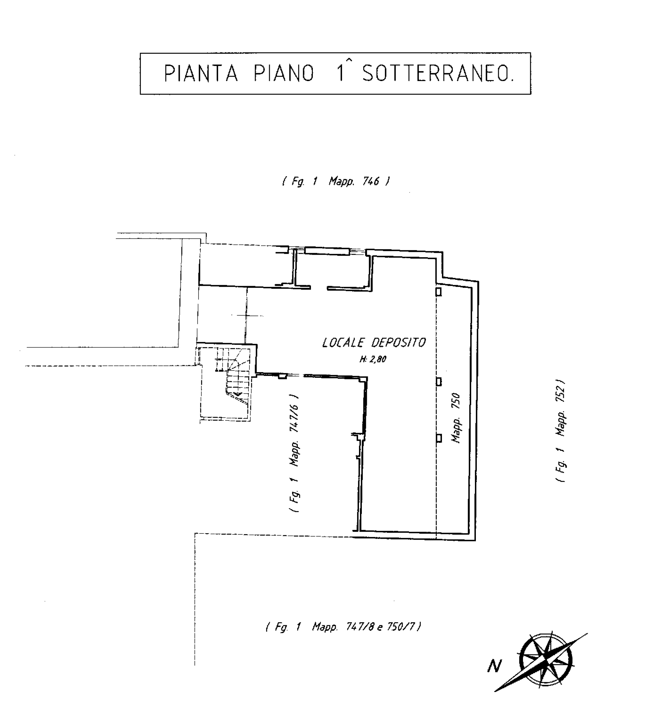 piano seminterrato catastale - Hotel