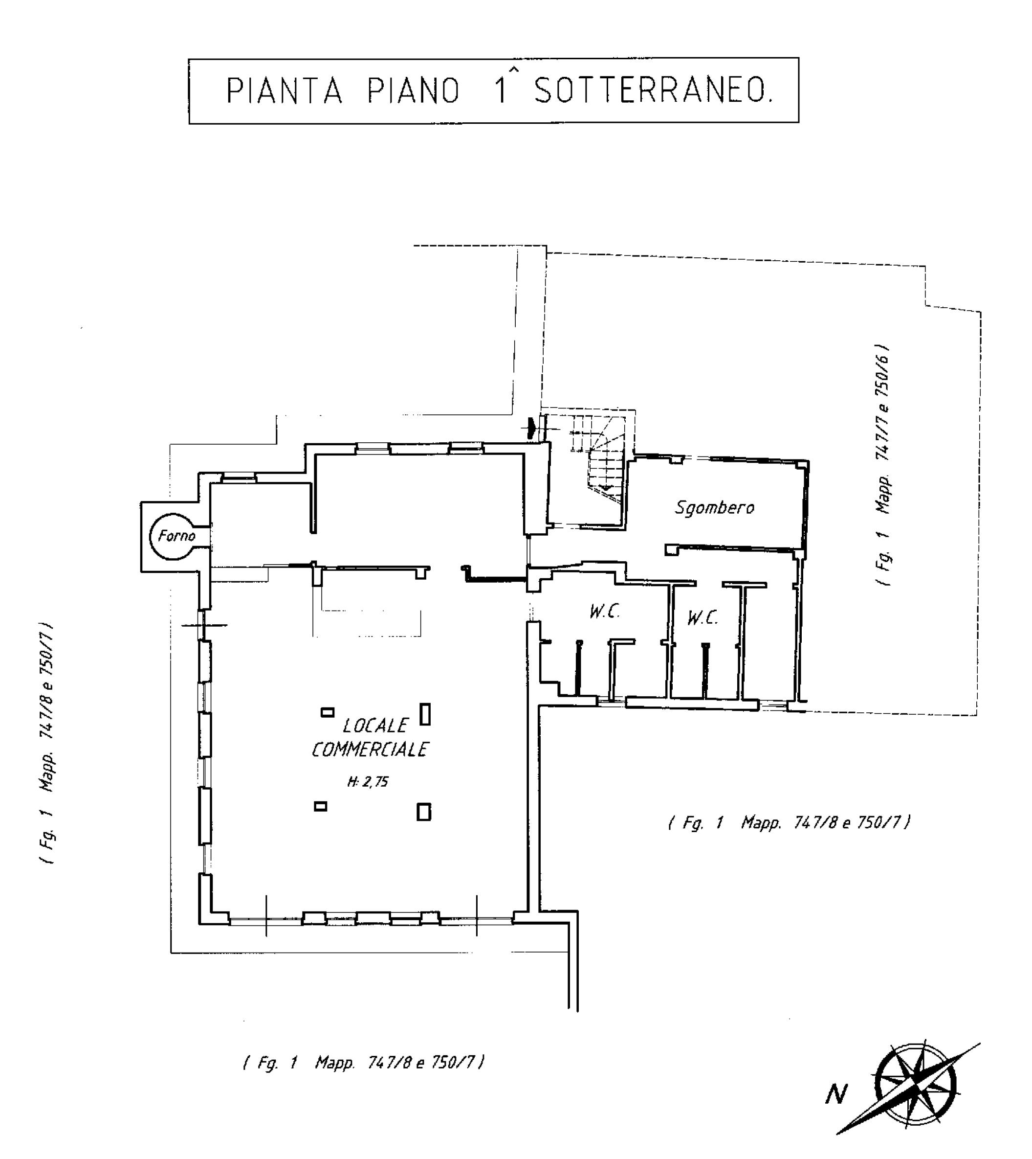 piano terra-seminterrato catastale - Ristorante