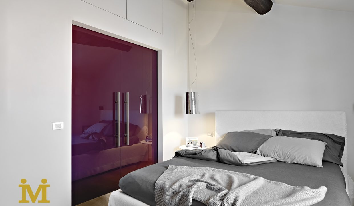 interiors shots of a modern bedroom with wardrobe