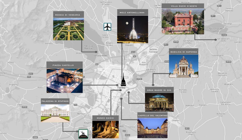 mappa con indicazioni